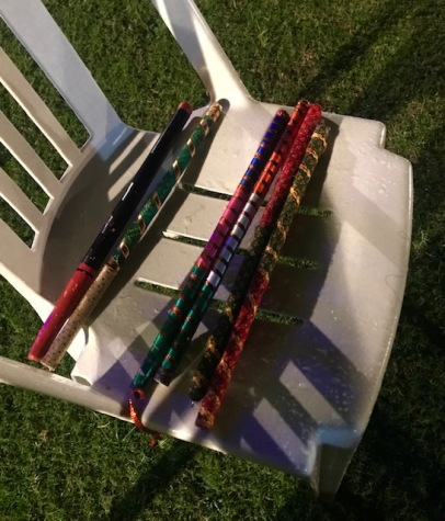 Dandiya dance 'decorated mini batons'